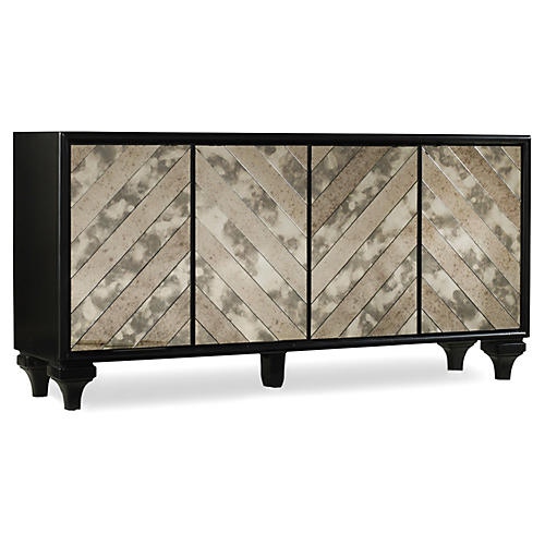 "Darling 68"" Sideboard, Black/Multi"