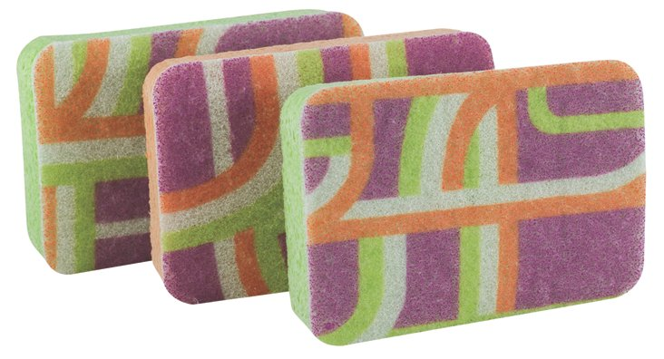 Asst of 3 Extra Large Scrub Sponges