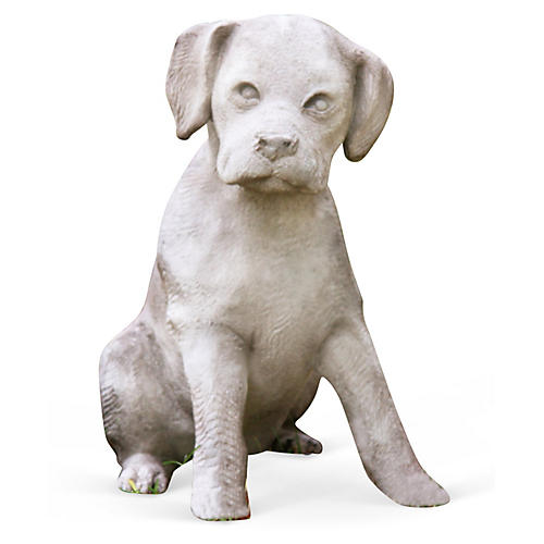 """14"""" Lab Puppy, Cathedral White"""
