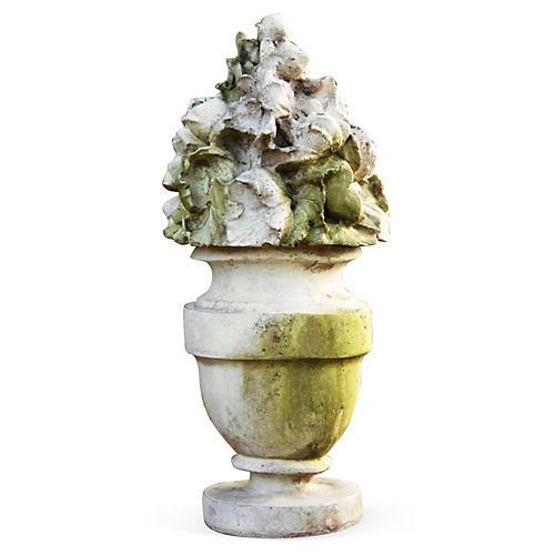 "18"" French Garden Bouquet, White Moss"