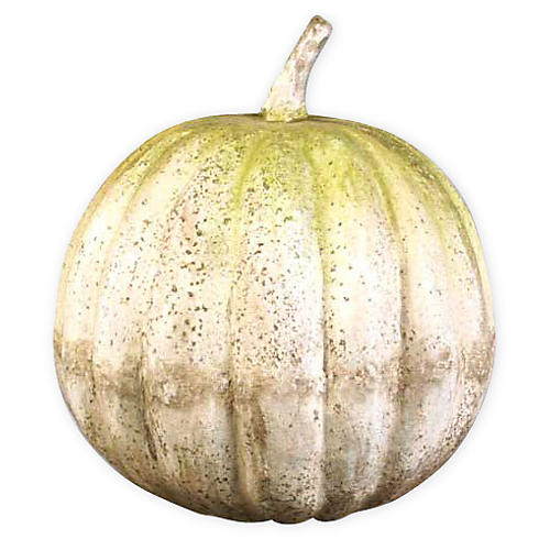 """25"""" Pumpkin, White Moss"""