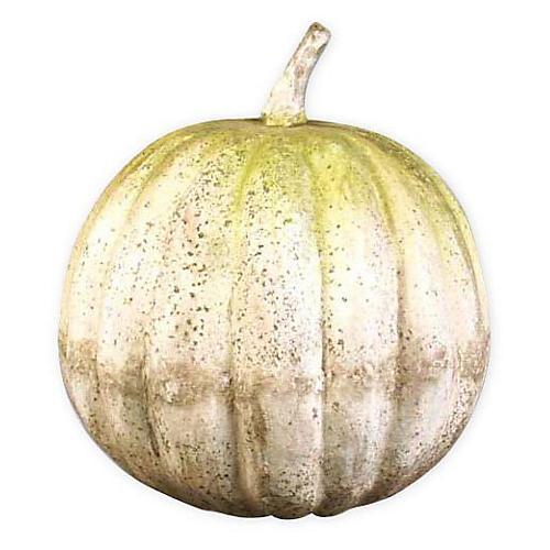 """14"""" Pumpkin, White Moss"""