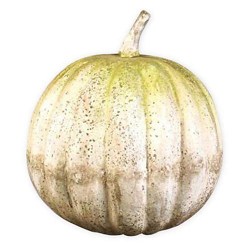 "14"" Pumpkin, White Moss"