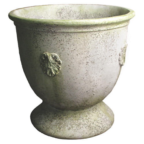 "20"" French Anduze Planter, White Moss"