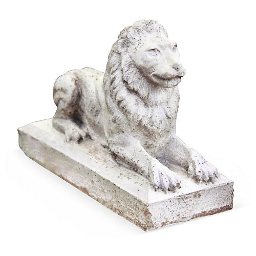 "12"" Sentinel Lion, Cathedral White"