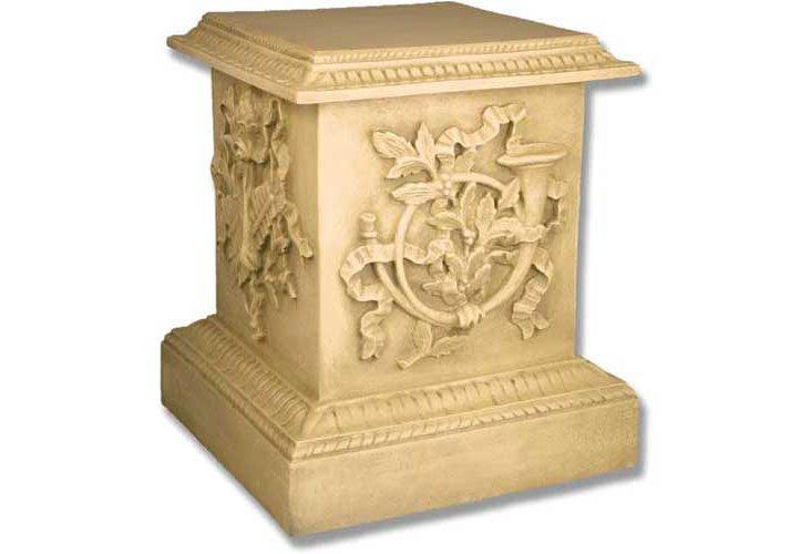 "23"" Decorative Pedestal, Off White"