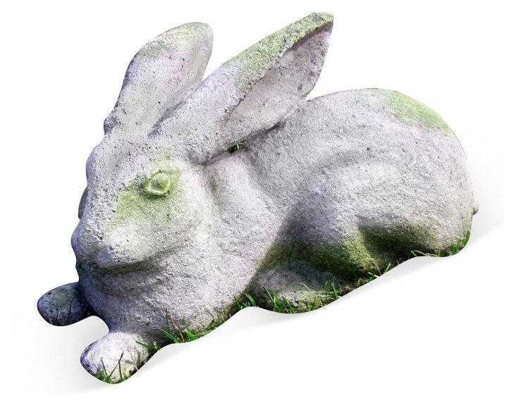 "13"" Quick Rabbit, White Moss"