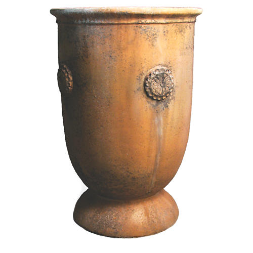 "30"" French Anduze Planter, Autumn Rose"