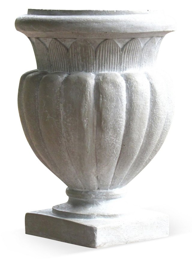 "20"" Stadium Urn, Cathedral White"