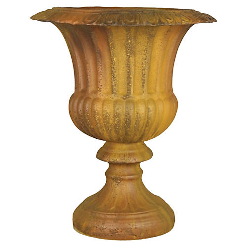"20"" Fluted Urn, Rust"
