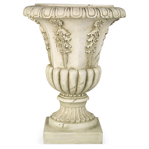 "18"" Six-Sided Urn, Antiqued Stone"