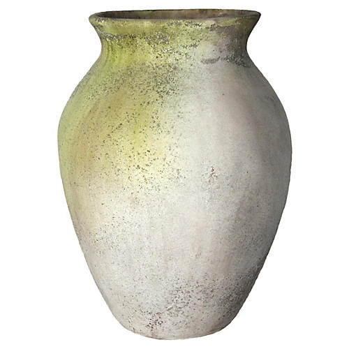 "28"" Classic Jar, White Moss"