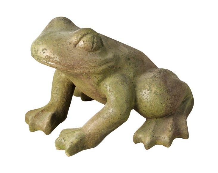 """19"""" Frog of the Garden Statue, Verde"""