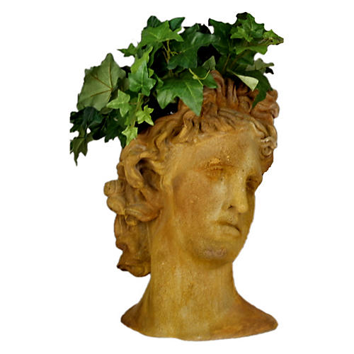 Apollo Head Planter, Sandstone
