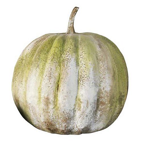 """37"""" Pumpkin, White Moss"""