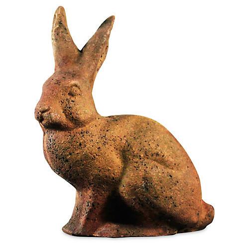 "9"" Rabbit Statue, Sandstone"