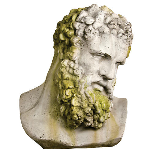 Hercules Bust, White Moss