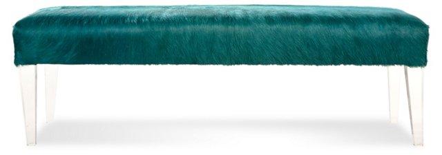 "Phoenix 54"" Bench, Aquamarine"