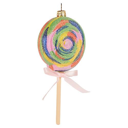 Lollipop Ornament, Green/Multi