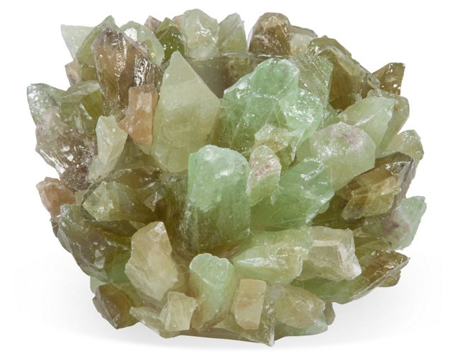 Green Calcite Candleholder, Small