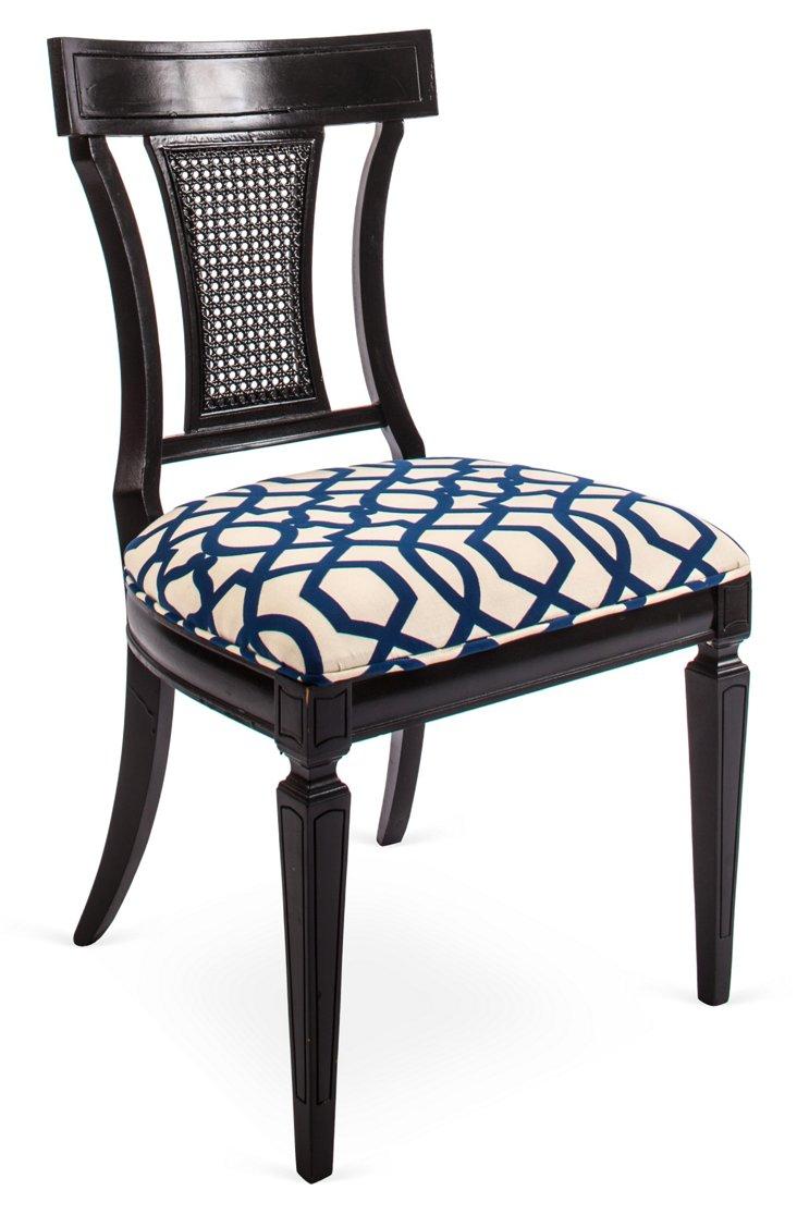 Black & Blue Chair