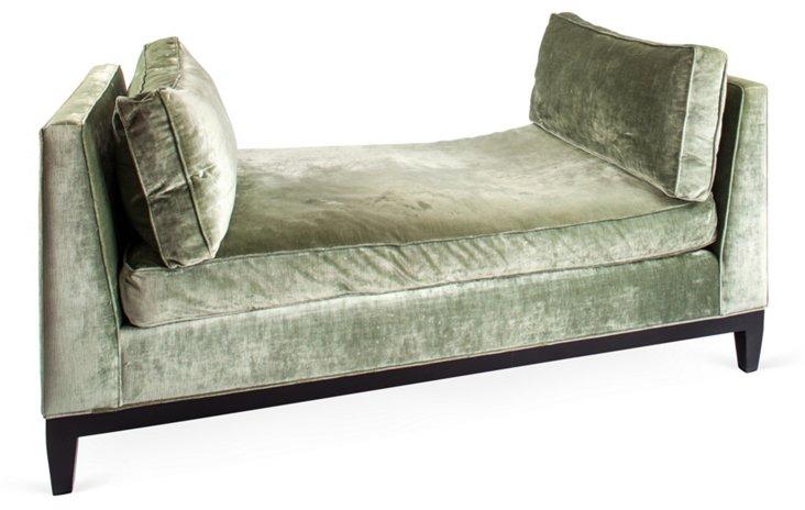 Silk Velvet Modern Chaise