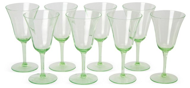 Wine Glasses, Set of 8