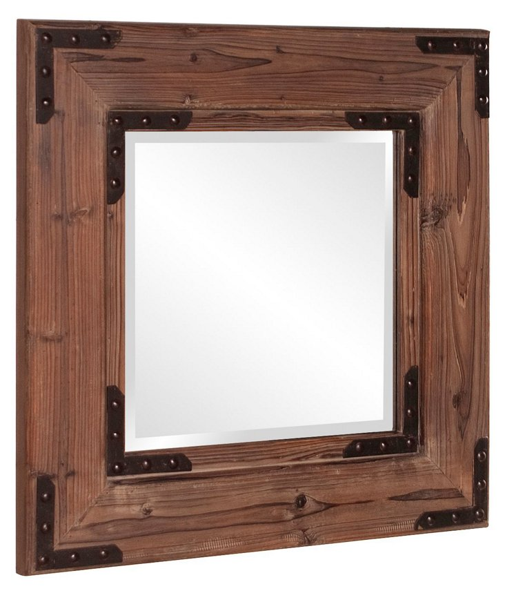 Caldwell Wall Mirror, Brown