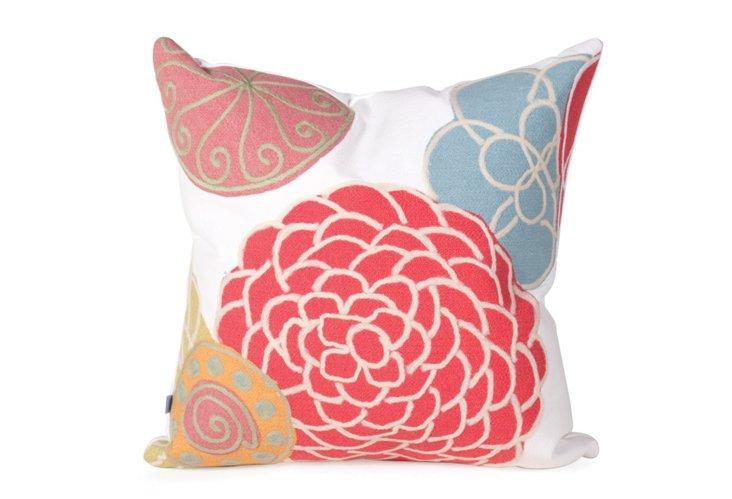 """Patio Pillow 20""""x20"""", Disco White"""