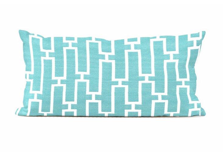 """Patio Pillow 11""""x22"""", Bahama Breeze"""