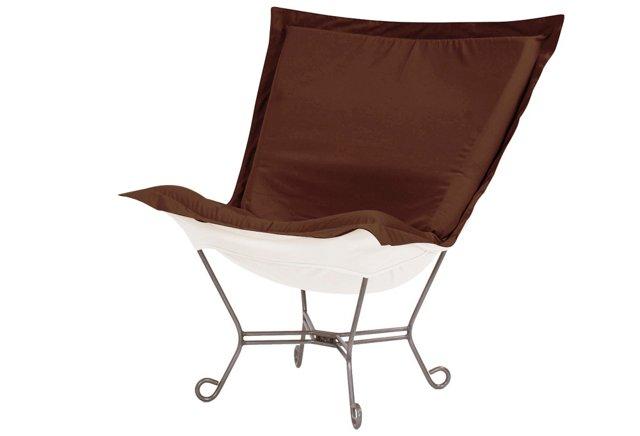 Patio Puff Chair, Chocolate