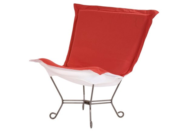 Patio Puff Chair, Punch