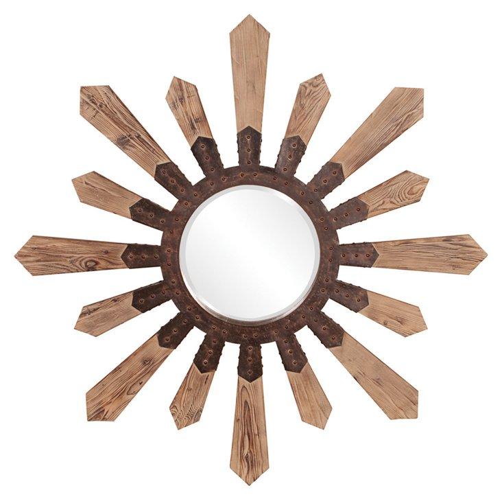 Pointe Oversize Mirror, Natural Bronze