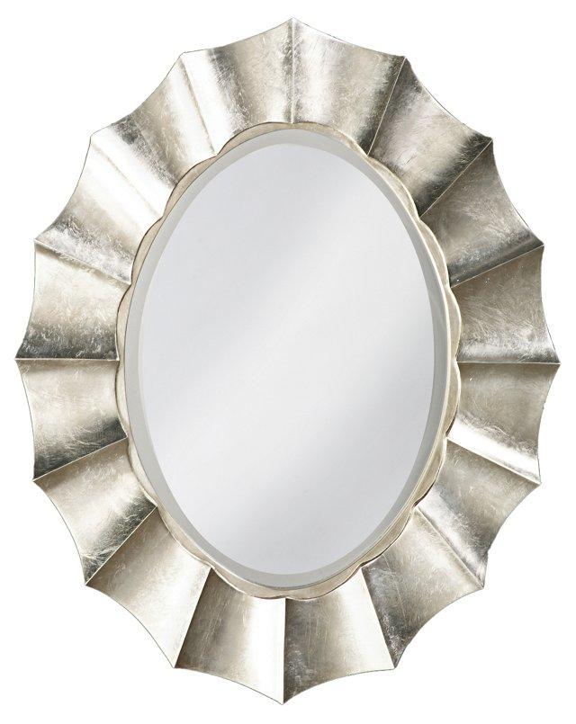 Corona Wall Mirror, Silver
