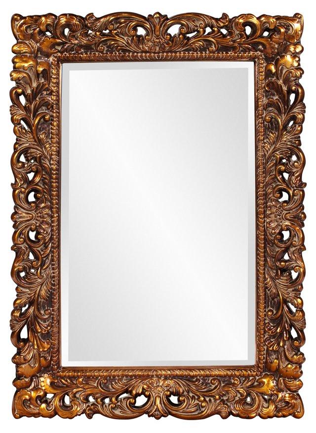 Serena Oversize Mirror, Gold