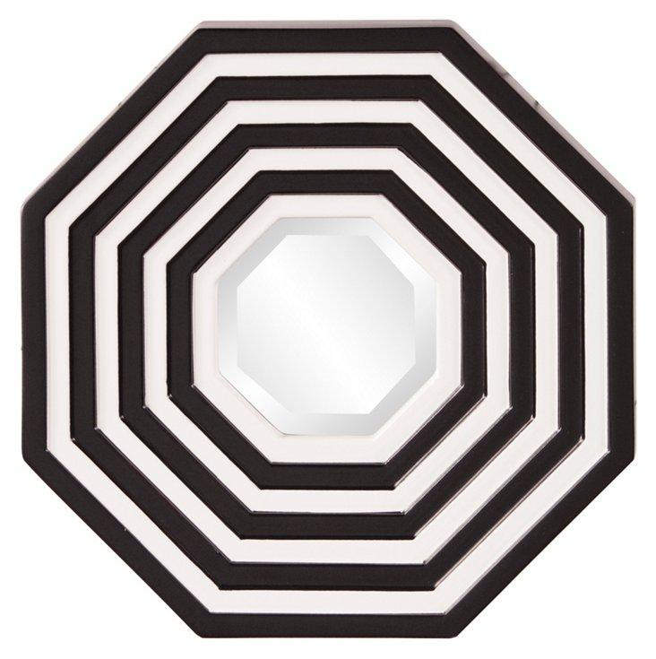 Avera Accent Mirror, Black/White