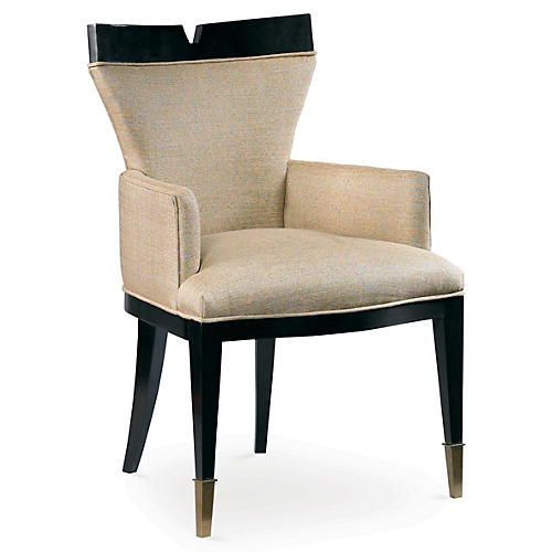 Stratos Armchair, Antiqued Lace