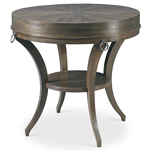 Classic Modern Ruby Side Table, Elm