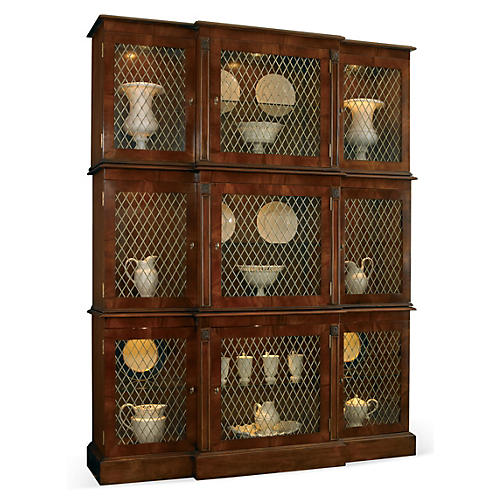 Manor Breakfront Cabinet, Sepia