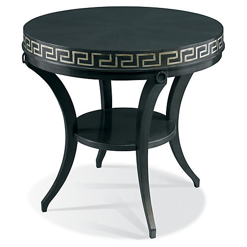 Classic Modern Greek Key Table, Ebony