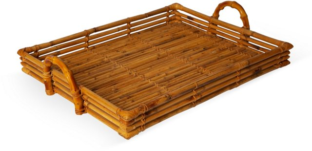 French Bamboo Tray