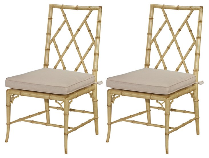 Ivory Owens Side Chairs, Pair