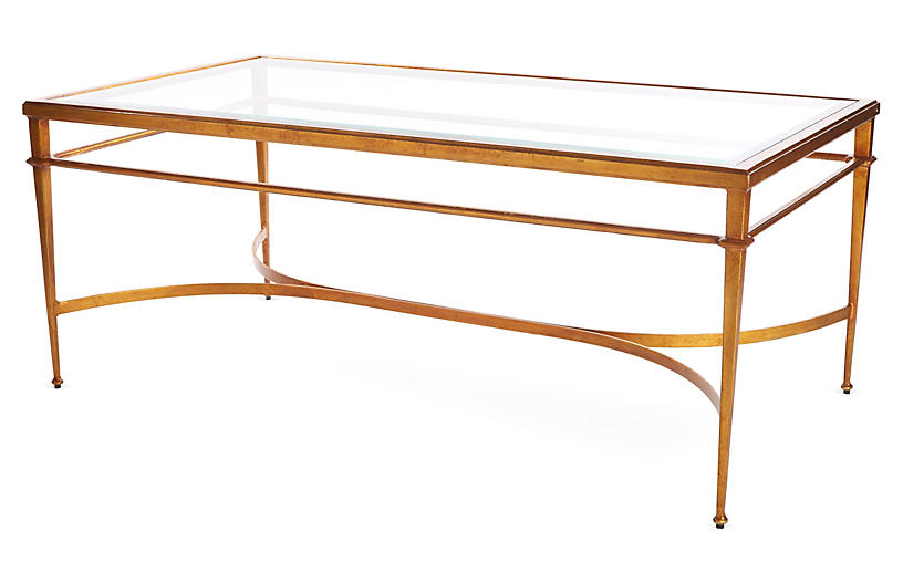Crosby 48 Coffee Table Gold Leaf Coffee Tables Living Room