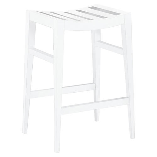 Rachel Wood Counter Stool, Cloud White