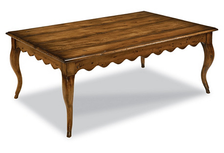 Victoria Wood Cocktail Table, Honey