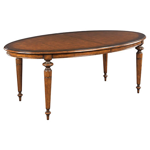 Bluffs Oval Ext. Dining Table, Sienna