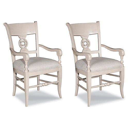 Almond Lenchen Armchair, Pair