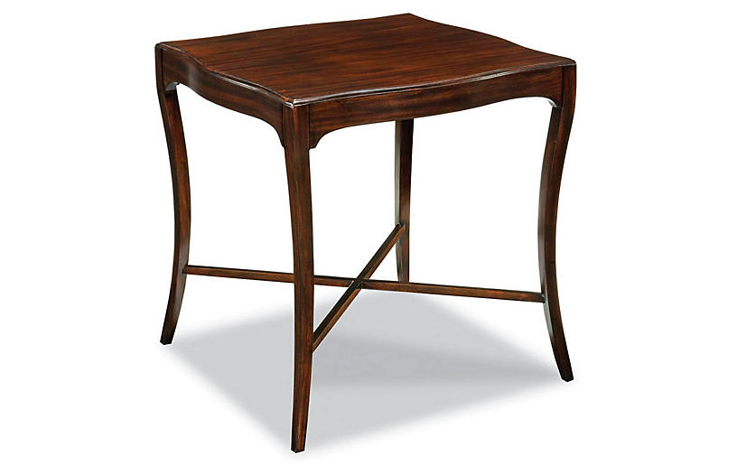 Rubley Side Table Mahogany Side Tables Living Room Furniture One Kings Lane