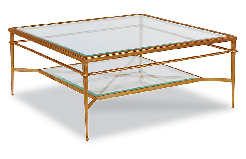 Tasca Coffee Table, Gold Leaf