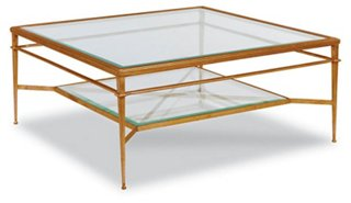 tasca coffee table, gold leaf - coffee tables - living room
